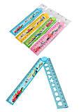 Набор пластиковых линеек 30 см, 4 штуки в упаковке, складные, в ассортименте, 8909, тойс