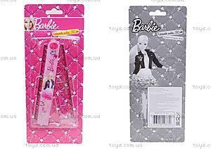 Розовая раскладная линейка с трафаретом для девочек, BRAB-US1-201-BL1