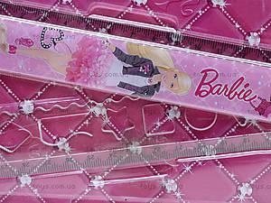 Розовая раскладная линейка с трафаретом для девочек, BRAB-US1-201-BL1, отзывы