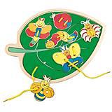 Шнуровка «Листик с насекомыми», 88095, игрушки