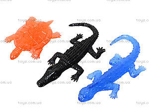 Игрушка лизун «Черепаха и ящерица», 20 штук, PR625, фото