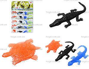 Игрушка лизун «Черепаха и ящерица», 20 штук, PR625