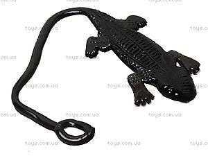 Игрушка-лизун «Черная ящерица», PR613, фото