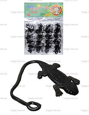Игрушка-лизун «Черная ящерица», PR613
