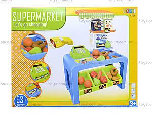Игровой магазин с кассой и продуктами, 8728, детские игрушки