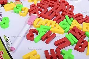 Магнитная доска для рисования с буквами, 356B-1, игрушки