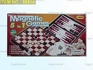 Магнитные шахматы 5в1, 9841A