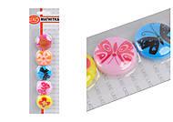 """Магниты 5 штук в наборе """"Бабочка, цветы"""", L12324-5, іграшки"""