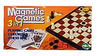 Магнитная игра шахматы - шашки - карты, 9888, toys.com.ua