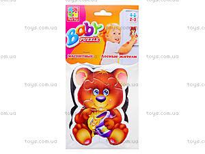 Магнитные беби-пазлы «Лесные жители», VT3208-03, игрушки
