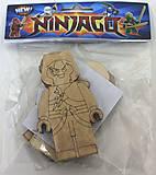 Магнитные деревянные фигурки Ниндзя, 86551, фото