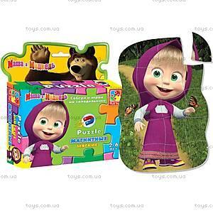 Магнитные фигурные пазлы «Маша», VT1504-15..18, toys
