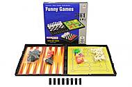 Магнитные шашки и шахматы в коробке, 824C, фото