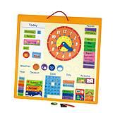 Магнитный календарь Viga Toys, 50377, купить