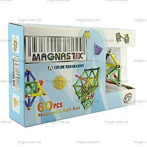 Магнитный конструктор для детей, 60 элементов, MT01301