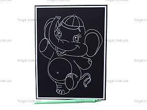 Маленькая гравюра «Слоник», 7008-07, фото