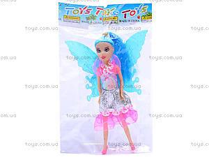 Маленькая кукла «Фея», с крыльями, 2028A, фото