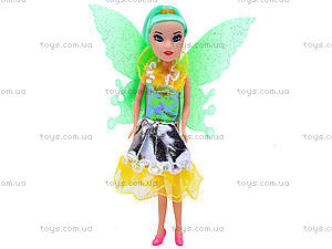 Маленькая кукла «Фея», с крыльями, 2028A, игрушки