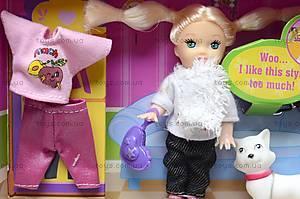 Маленькая кукла с питомцем и нарядом, 6009, отзывы