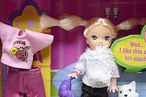 Маленькая кукла с питомцем и нарядом, 6009, цена