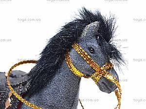 Маленькая велюровая лошадь, 2549-8/9, цена