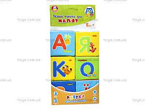 Набор мягких кубиков «Азбука», украинский язык, VT1401-02, игрушки