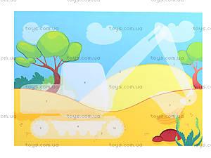 Рисунки с наклеек «Бетономешалка», Л900836У, игрушки