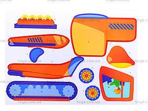 Рисунки с наклеек «Бетономешалка», Л900836У, детские игрушки