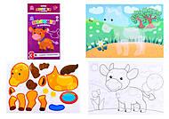 Рисунки с наклеек «Корова», Л900835У, фото