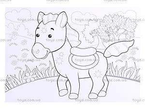 Рисунки с наклеек «Корова», Л900835У, детские игрушки