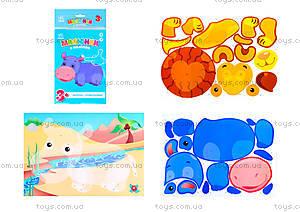 Рисунки из наклеек для детей «Бегемот», Л900833У