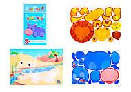 Рисунки из наклеек для детей «Бегемот», Л900833У, фото