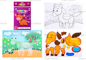 Рисунки из наклеек «Корова», Л900837Р, цена