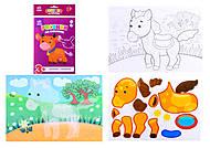Рисунки из наклеек «Корова», Л900837Р, фото