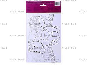 Рисунки из наклеек «Корова», Л900837Р, детские игрушки