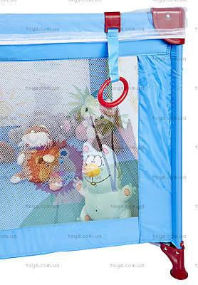 Манеж WonderKids BabyJoy (синий/зеленый), WK20-H05-001, фото