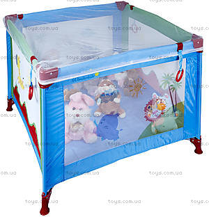 Манеж WonderKids BabyJoy (синий/зеленый), WK20-H05-001, игрушки
