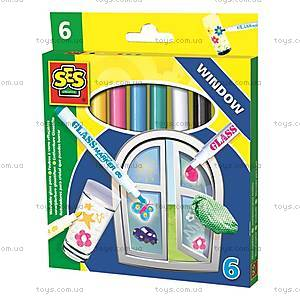 Маркеры для рисования по стеклу «Веселые витражи», 2102S