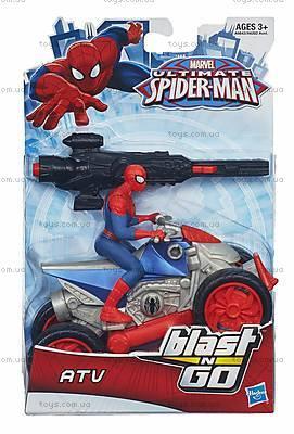 Марвел Человек-Паук с мотоциклом, A6282