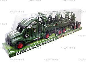 Машина инерционная военная с солдатиками, KZ322