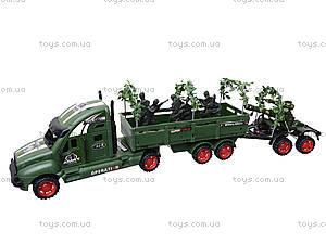 Машина инерционная военная с солдатиками, KZ322, детские игрушки