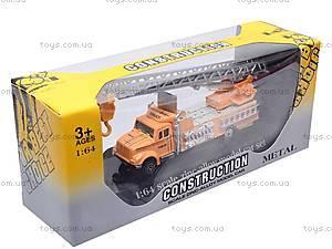 Машина детская инерционная, желтая, 0720-5