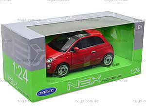 Коллекционная модель Fiat 500 2007, 22514W, игрушки