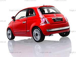 Коллекционная модель Fiat 500 2007, 22514W, детские игрушки