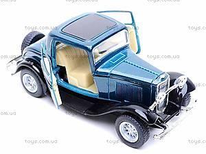 Машина Ford 3-window Coupe, KT5332W, детские игрушки