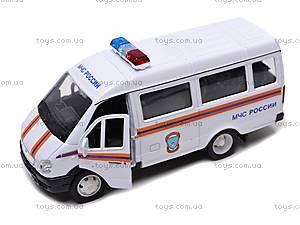 Машина ГАЗ 3221 «МЧС», 42387ARE-W, игрушки