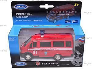 Машина ГАЗ 3221 «Пожарная охрана» , 42387AFS-W, игрушки