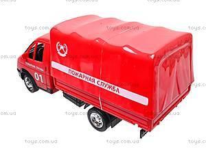 Машина Газель «Пожарная», 9557-A, детские игрушки