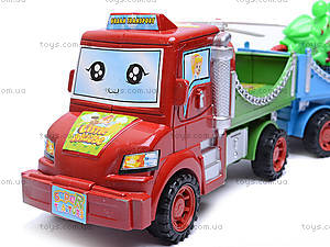 Машина «Грузовик», с прицепами, А1987-А3, детские игрушки