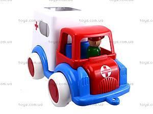 Машина игрушечная «Скорая помощь», С-61-Ф, фото